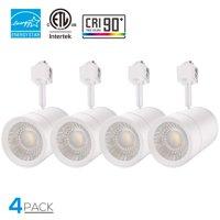 LEONLITE 17.5W LED White Track Light Head, 85W Equivalent, ENERGY STAR & ETL Certified, 38 Degrees Beam Angle, 4000K Cool White, for Accent Wall Art Exhibition Retail Lighting, Pack of 4