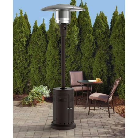 Mainstays Large Outdoor Patio Heater, Powder Coat Brown (Patio Heater Reviews)