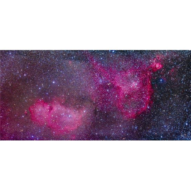The Heart & Soul Nebulae in The Constellation Cassiopeia Poster Print, 20 x 9 - image 1 de 1