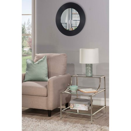 Hillsdale Furniture Corbin Step Table with Three (3) Glass Shelves