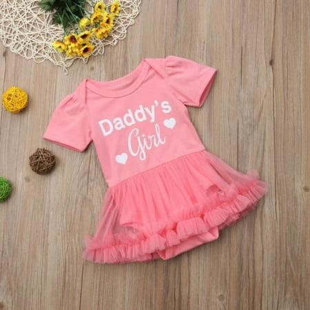 - Princess Newborn Baby Girls Romper Jumpsuit Dress Clothes Outfits Summe Sunsuit