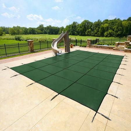 Yard Guard Deck Lock Rectangle Mesh 18'x36' Inground Swimming Pool Safety
