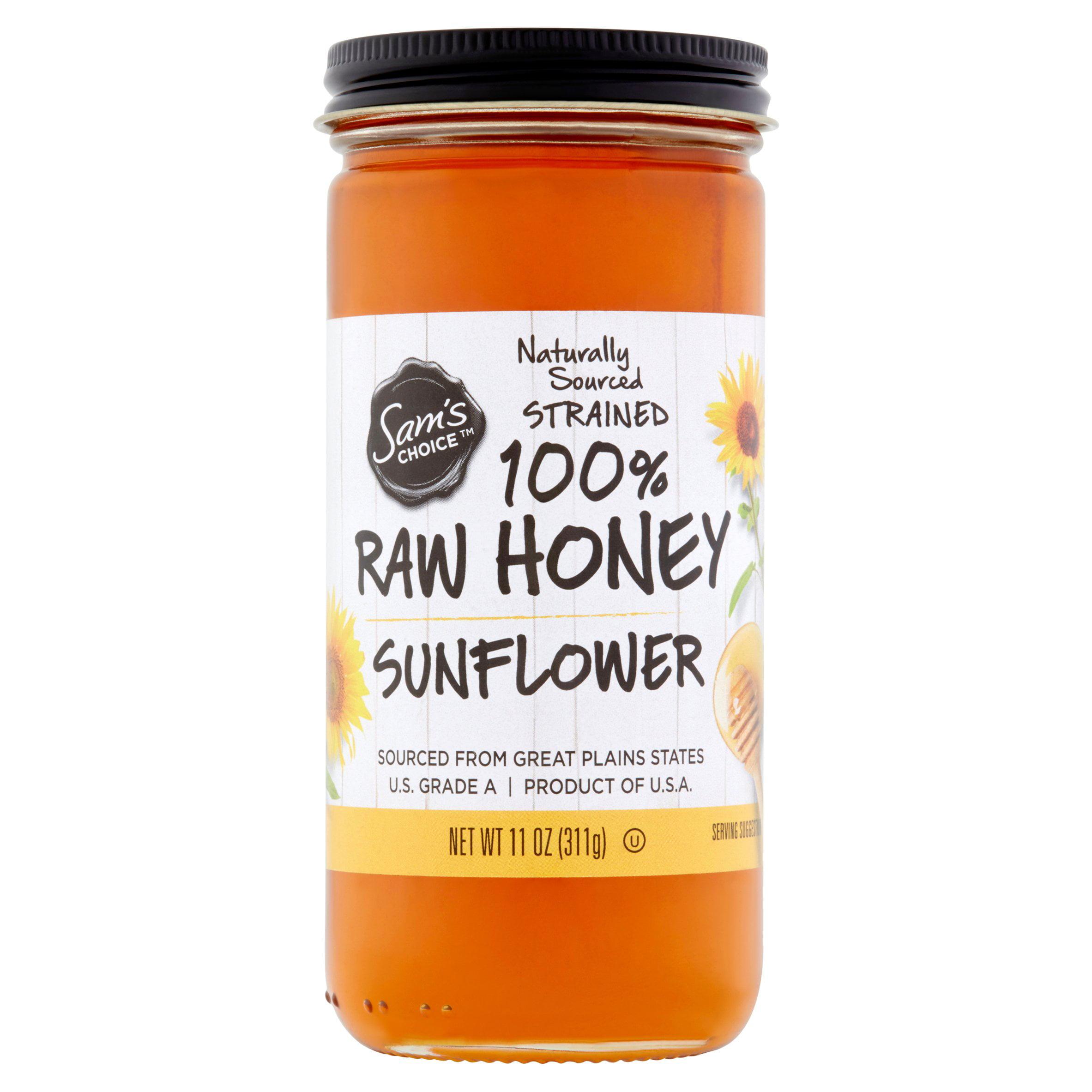 (2 Pack) Sam's Choice 100% Raw Honey, Sunflower, 11 oz
