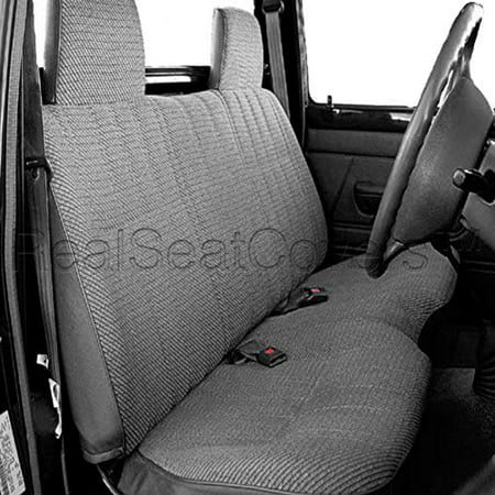 Custom Truck Seat (RealSeatCovers Seat Cover for Toyota Small Pickup 2X4 2WD 10mm Thick Triple Stitched Custom made for Exact Fit A25 (Gray))