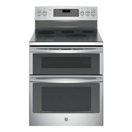 PB980SJSS 30 Freestanding Double Oven Electric Range with 5 Cooking Elements  6.6 cu. ft. Capacity  Bridge Zone  Convection  Self Clean  Fast Preheat and Chef Connect  in Stainless Steel