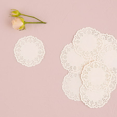 Weddingstar 9821-08 White Lace Paper Doilies White (Square Paper Lace Doilies)