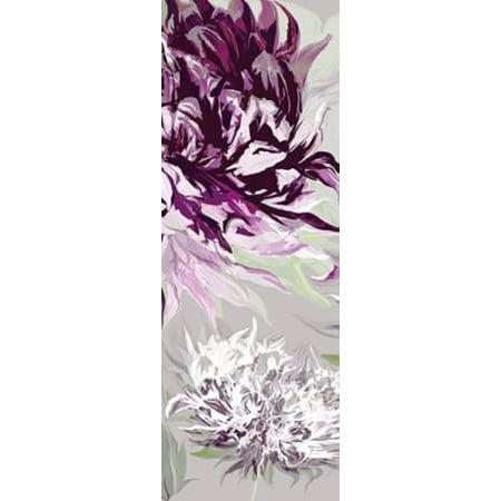 Allure Framed Art - Purple Allure II Poster Print by Sally Scaffardi (10 x 20)