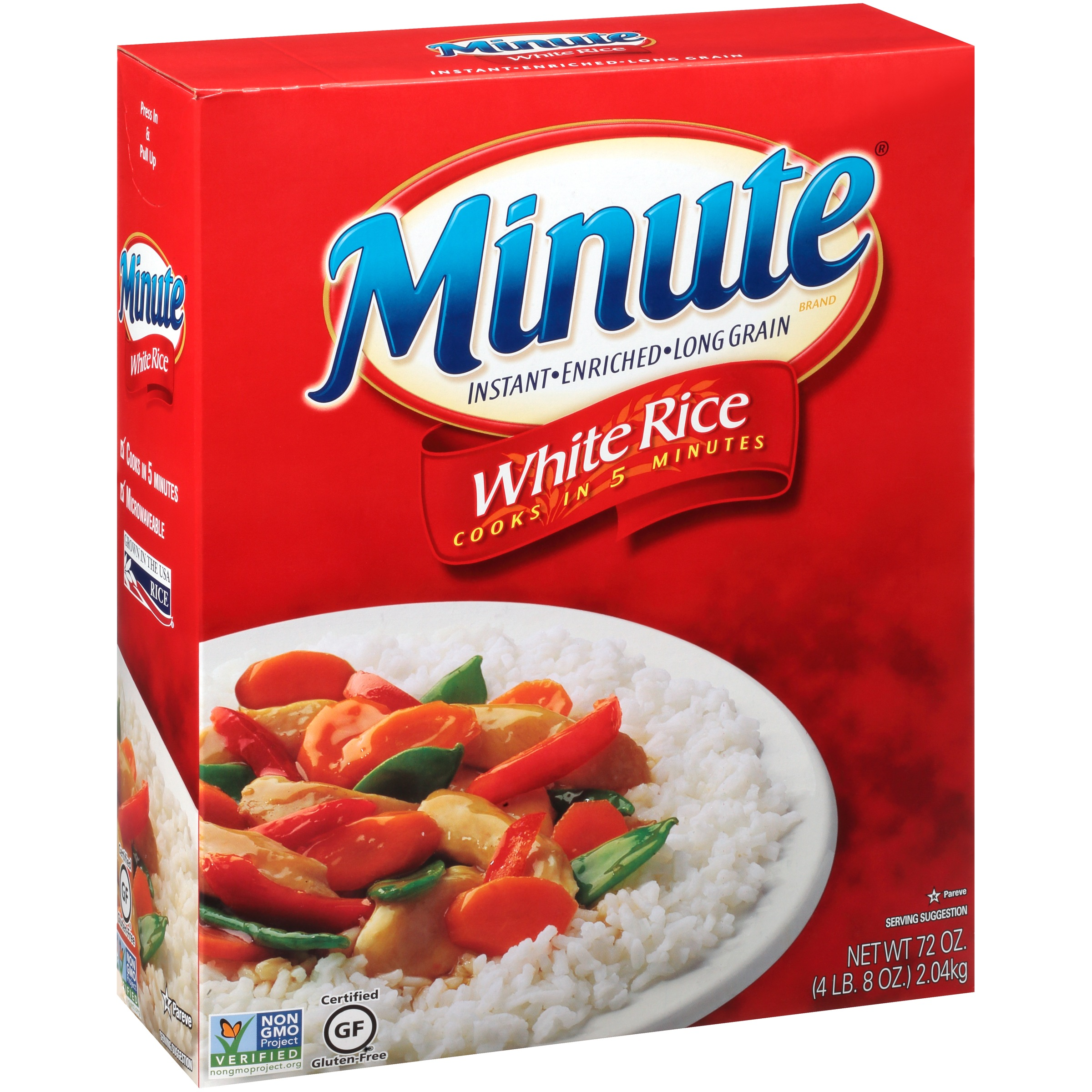 Minute White Instant Enriched Long Grain Rice 72 Oz Box