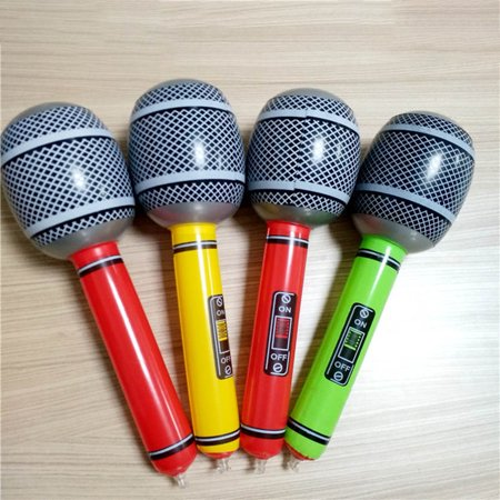 KABOER Inflatable Microphone Neon Colour Blow Up Toy Kids Party Bag Filler Singing - Inflatable Microphones