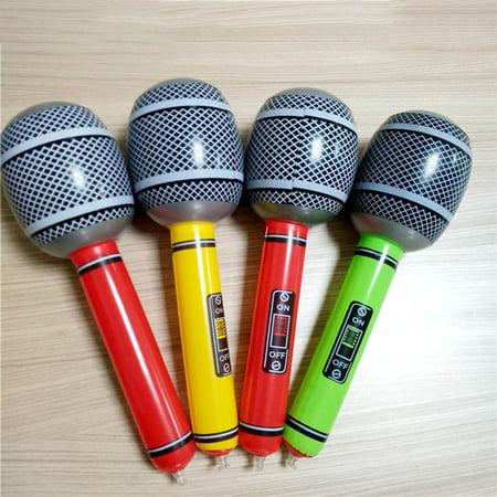 KABOER Inflatable Microphone Neon Colour Blow Up Toy Kids Party Bag Filler - Inflatable Microphones Bulk