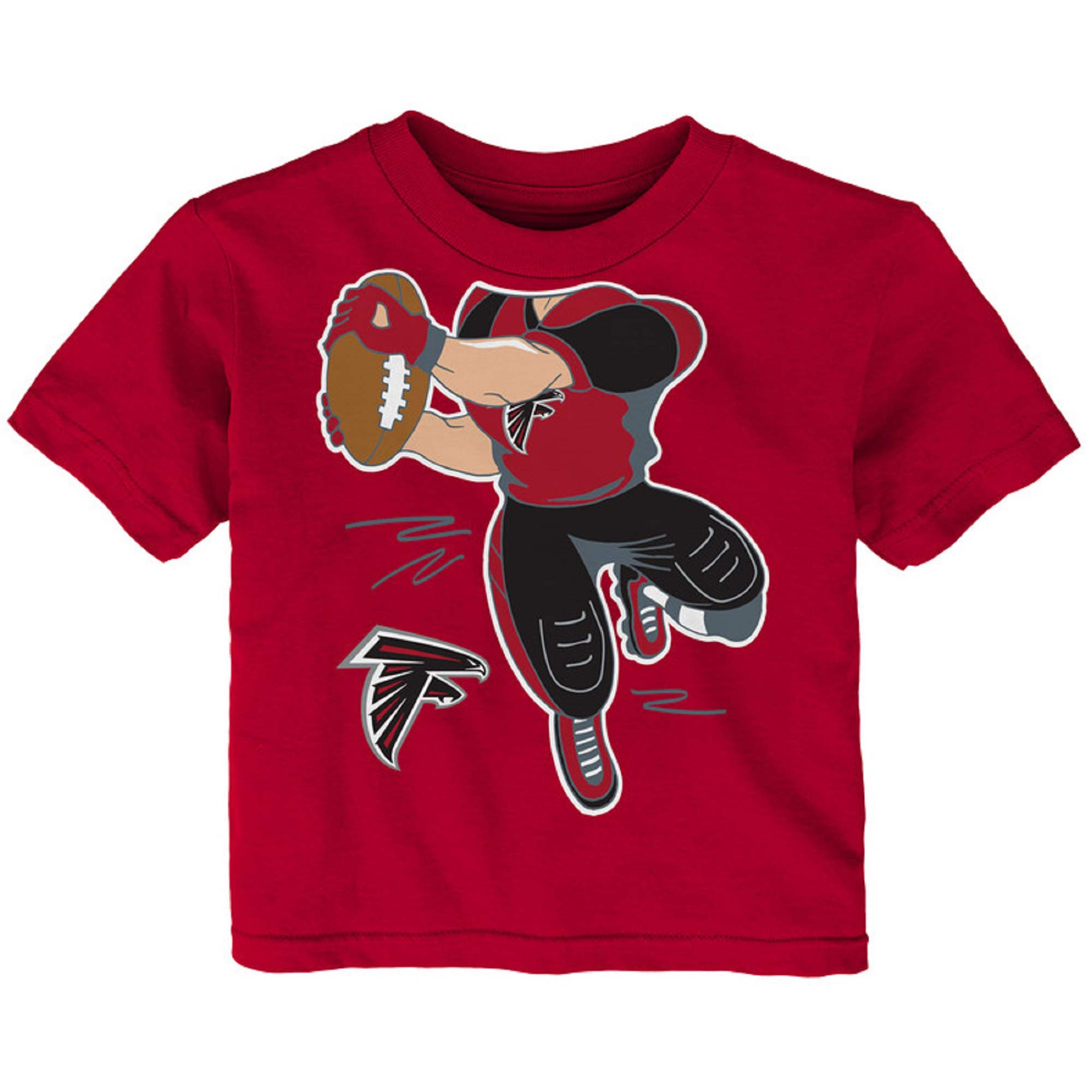 Newborn & Infant Red Atlanta Falcons Receiver T-Shirt
