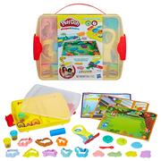 Play-Doh Shape & Learn Discover & Store Set with 6 Cans of Dough & 20+ Tools