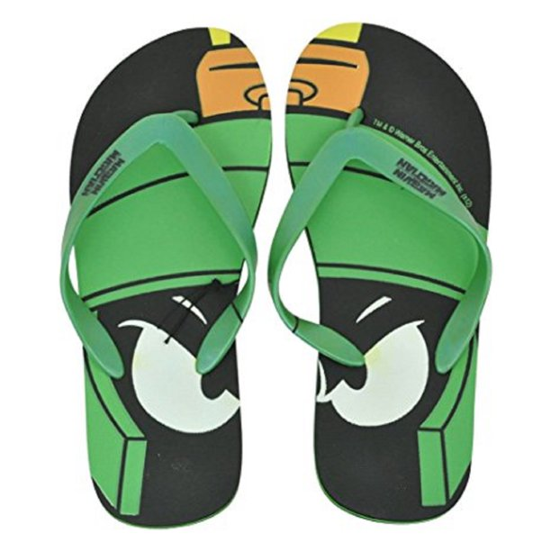 Concept One Accessories Looney Tunes Marvin The Martian Adult Flip Flop Thong Sandals Beach Medium 9 9 Walmart Com Walmart Com
