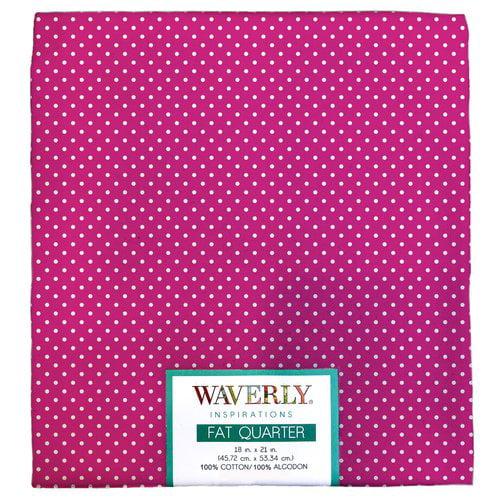 "Waverly Inspiration PINDOT STEEL Fat Quarter 100% Cotton, Pindot Print Fabric, Quilting Fabric, Craft fabric, 18"" by 21"", 140 GSM"