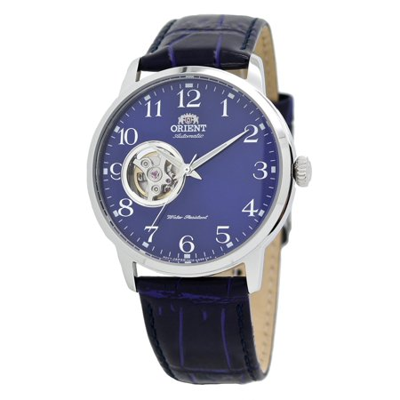 Classic Open Heart Automatic AG0011L Blue Leather Band Men's (Automatic Open Heart)