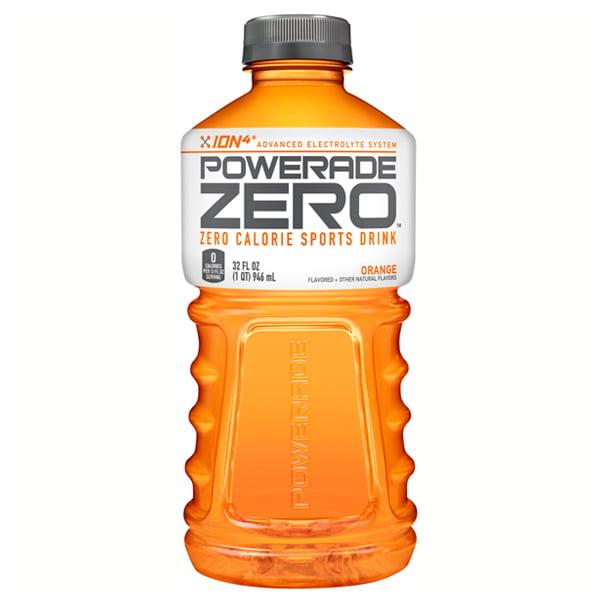 Powerade Zero Orange Sports Drink 32 oz Plastic Bottles -...