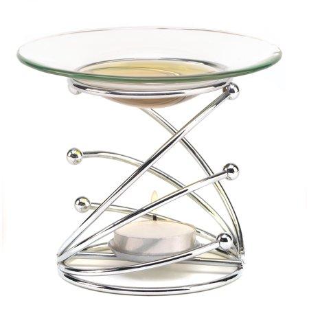 Fragrance Oil Warmer, Aromatherapy Oil Warmer, Modern Elegant Swirl Oil Warmer