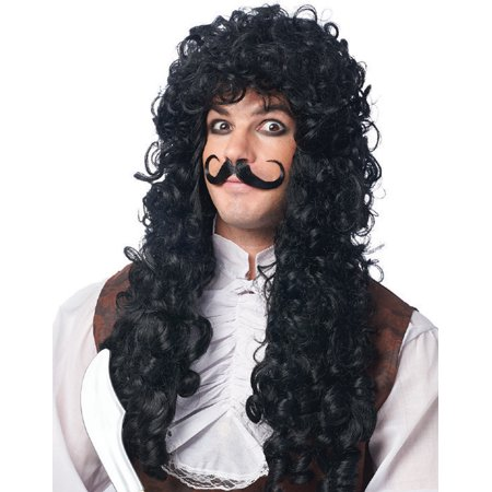 CAPTAIN HOOK WIG & MOUSTACHE SET (Captain Jack Sparrow Wig)