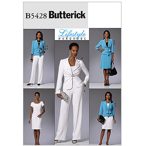 Butterick Pattern Misses' Jacket, Dress, Skirt and Pants, AA (6, 8, 10, 12)