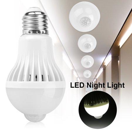 EECOO E27 Intelligent Detection PIR Infrared Motion Sensor Light LED Lamp Bulb Infrared Lamp Bulb Sensor Lamp Bulb