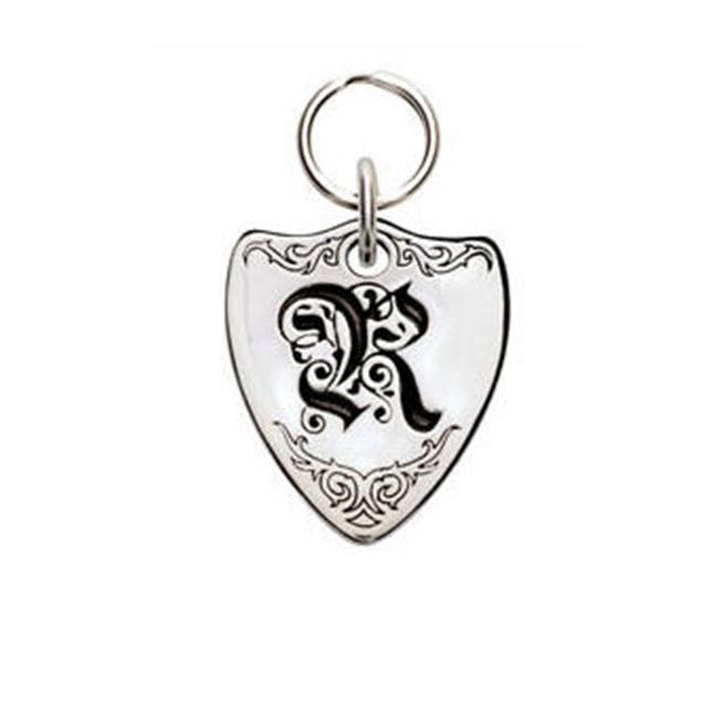Rockinft Doggie 844587000301 Small Sterling Silver Crest Dog Tag - Letter R