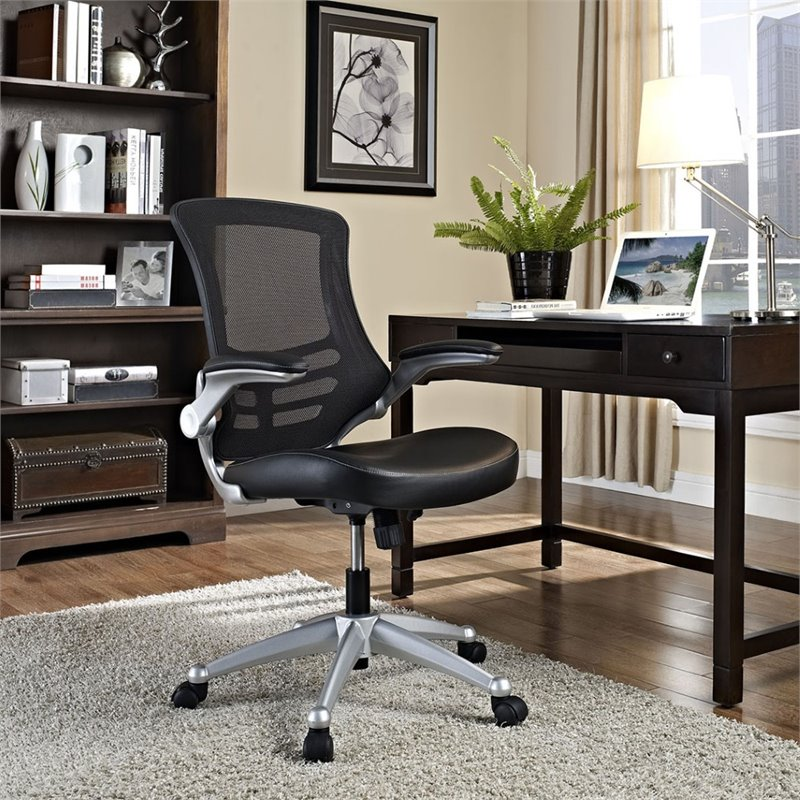 Modway Attainment Office Chair with Leatherette Seat, Multiple Colors