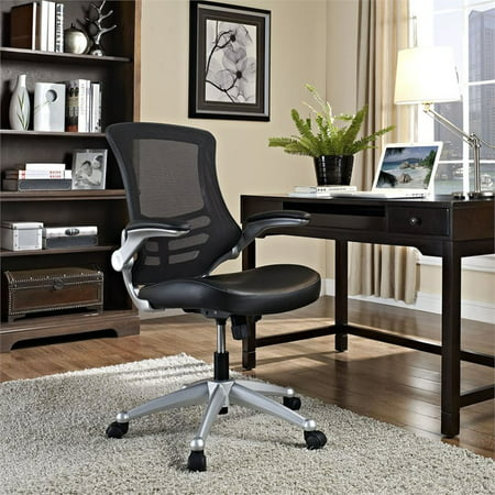 Modway Attainment Office Chair with Leatherette Seat, Multiple Colors Director Leatherette Office Chair