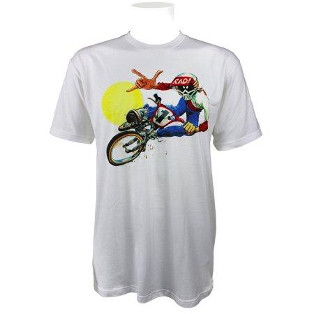 Radical Rick Flashback BMX Bike T-shirt White With Colored Graphic