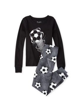 The Children's Place Long sleeve soccer ball printed pajama set (little boy & big boy)