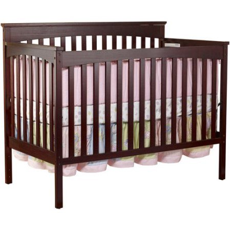 Sorelle Annie Petite 3 In 1 Convertible Crib Cherry