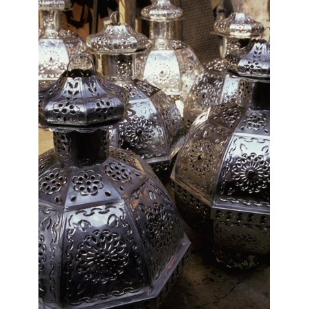 Punched Tin Lanterns, San Miguel de Allende, Mexico Print Wall Art By Inger Hogstrom