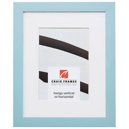 Craig Frames Confetti, 10 x 13 Inch Modern Light Blue Picture Frame Matted to Display a 7 x 10 Inch Photo