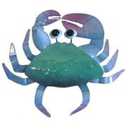 Nautical Ocean Beach Maryland Blue Crab Painted Metal Patio Wall Decor