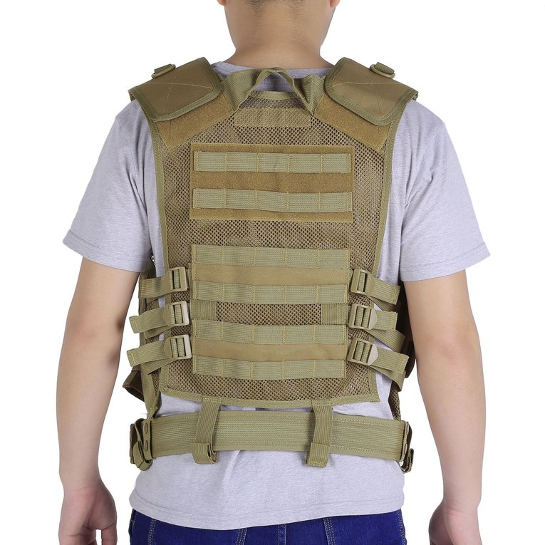 Adjustable Outdoor Men Military Gun Tactical Combat Assault Vest Army Hunting Airsoft Field Battle Training Vest by Generic