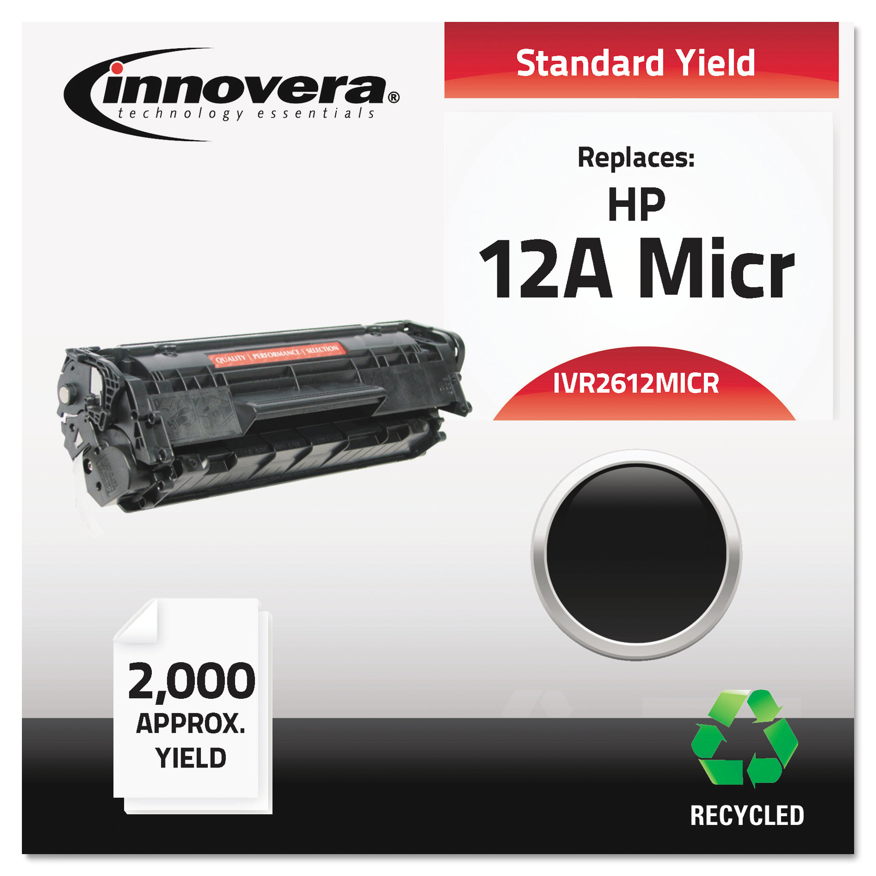 Innovera Remanufactured Q2612A(M) (12AM) MICR Toner, Black