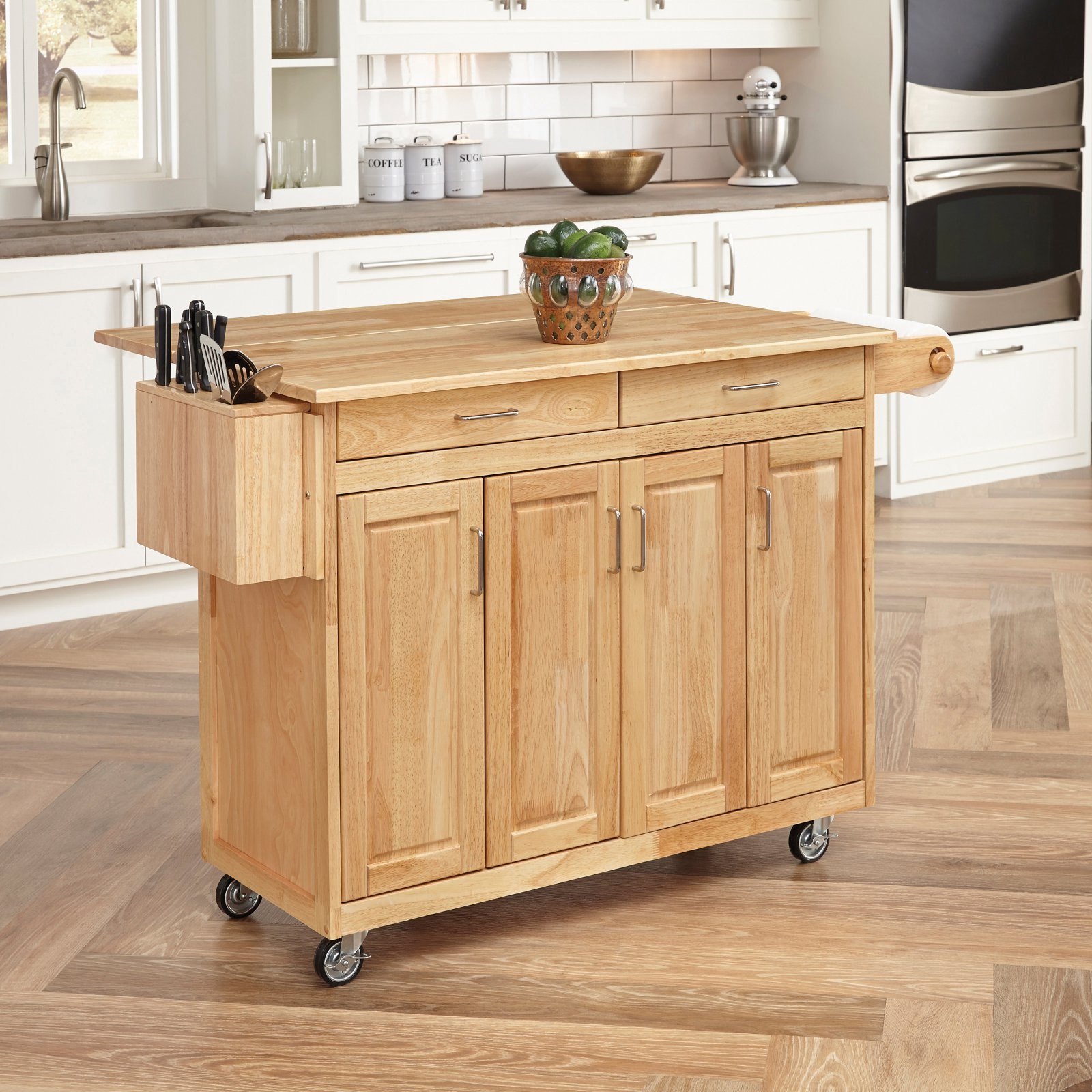 Drop-leaf Kitchen Carts