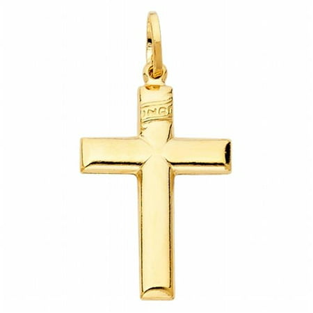 Jewelry 14k Yellow Gold Traditional Cross Religious Pendant - image 1 of 1