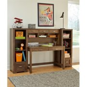 My Home Furnishings Logan- Driftwood 1301-701711801 Desk, Hutch And Chair