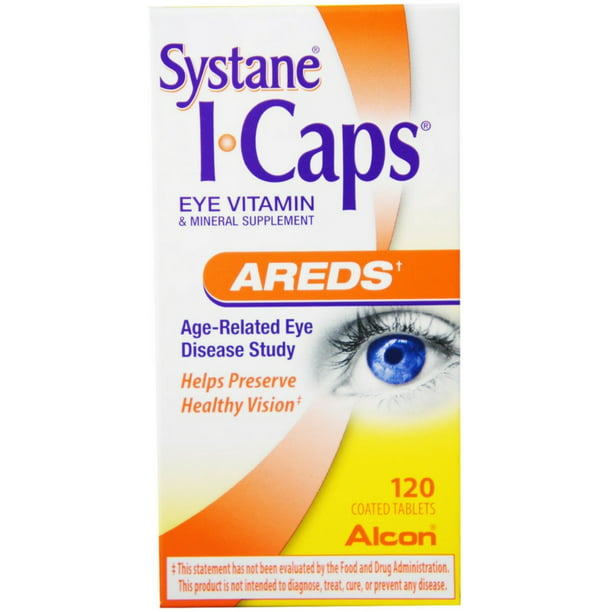 Systane ICAPS Eye Vitamin AREDS, 120 Coated Tablets