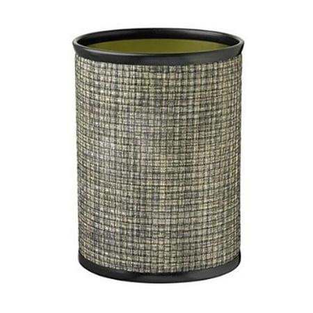 Kraftware Corp 40574 Wastebasket Oval, Onyx 14 inch