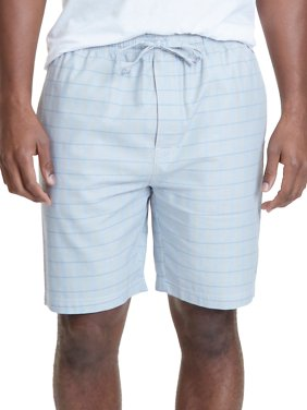 Herringbone Print Cotton Pajama Shorts