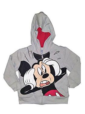 [P] Disney Toddler Boys' Mickey Mouse Fashion Sweat Shirt Hoodie (3T)