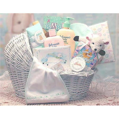 Cozy Baby Basket - gift basket drop shipping 89062-y-t welcome baby bassinet new baby basket - yellow, teal