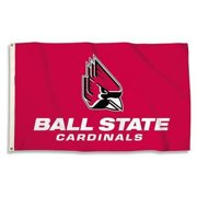 Ball State Cardinals 3 Ft. X 5 Ft. Flag W/Grommets  - Collegiate Licensed #23031