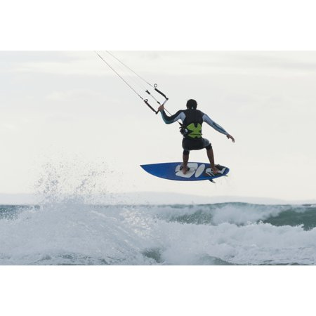 Wakeboarding Dos Mares Beach Tarifa Spain Canvas Art - Ben Welsh Design Pics (36 x 24)