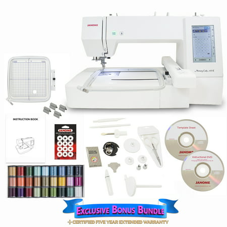 Janome Memory Craft 400E Embroidery Machine with Exclusive Bonus (Janome Memory Craft 10000)