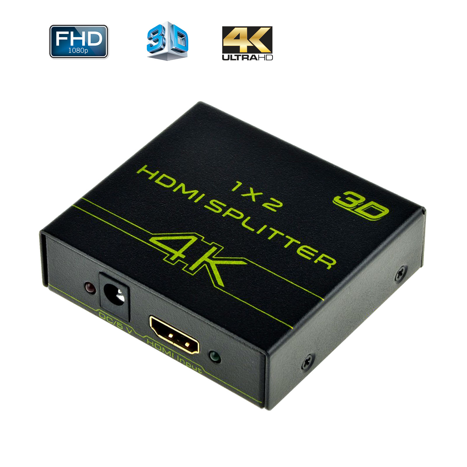 EEEKit Ulra 4K Full HD 3D 1080P HDMI Splitter 1 In 2 Out Adapter Hub Signal Distributor for HDTV Camera PS4 HDMI Devices