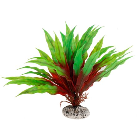 19cm Height Green Red Aquarium Aquascaping Simulation Aquatic Plant Ornament