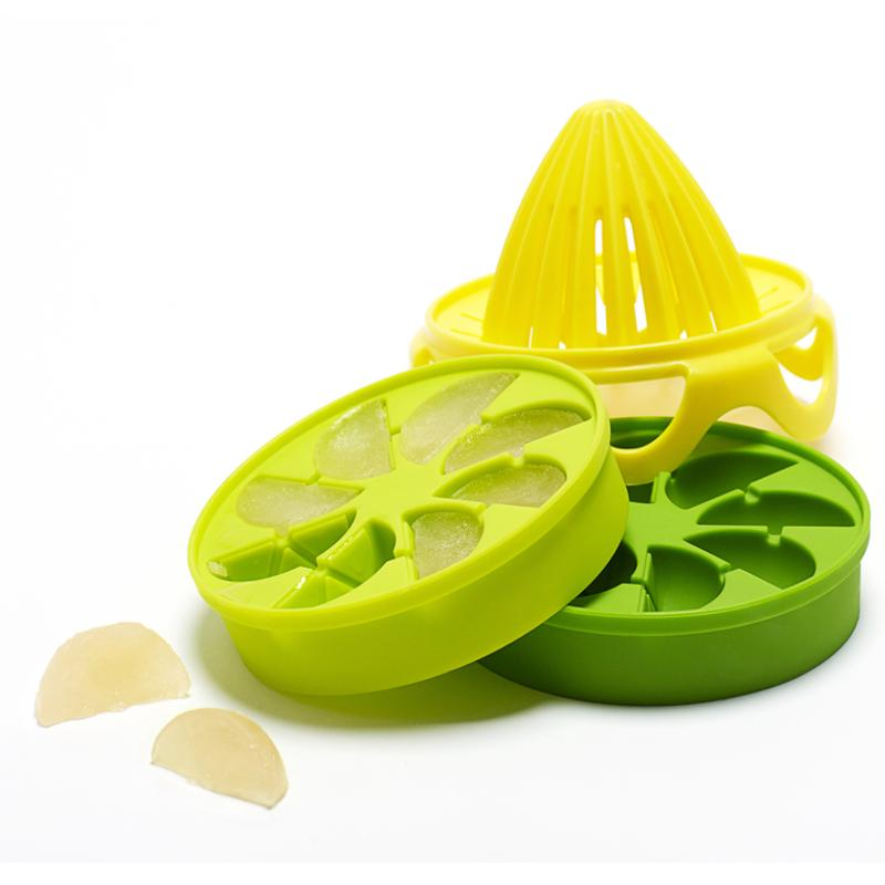 Full Circle Ice Cube Trays - Silicone - Citrus - w/Reamer
