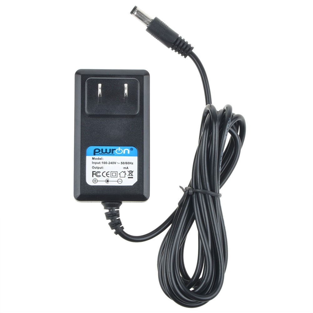 PwrON 6.6 FT Long 9V Negative AC to DC Power Adapter Charger For Korg ToNeworks... by